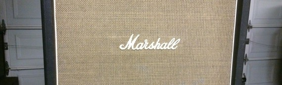 Listen to my 1971 Marshall Basketweave 4×12 Cab